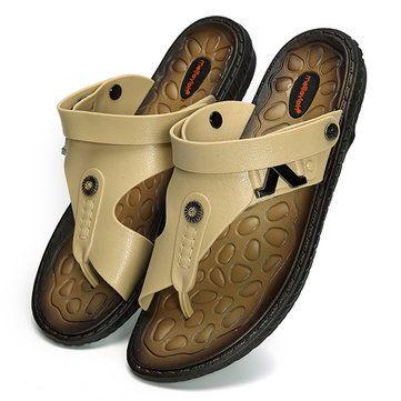 Hommes Orteil Clip Pantoufles Plates Confortables Doux Sandales De Plage En Plein Air nOTiQiWc