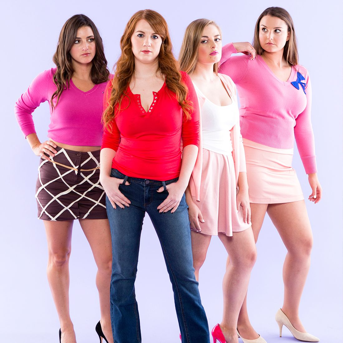 Bring the Plastics to life with this DIY Mean Girls group costume for Halloween.