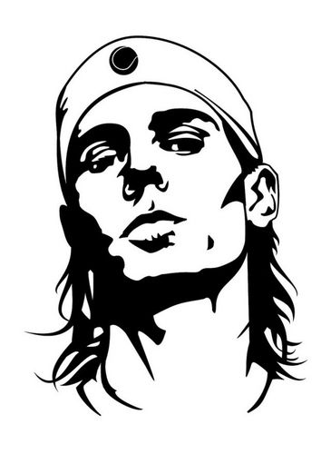 Coloring page Rafael Nadal | Famous people CoLoRing Pages ...