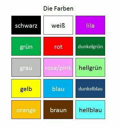 die farben deutschclass pinterest farben deutsch und lernen. Black Bedroom Furniture Sets. Home Design Ideas