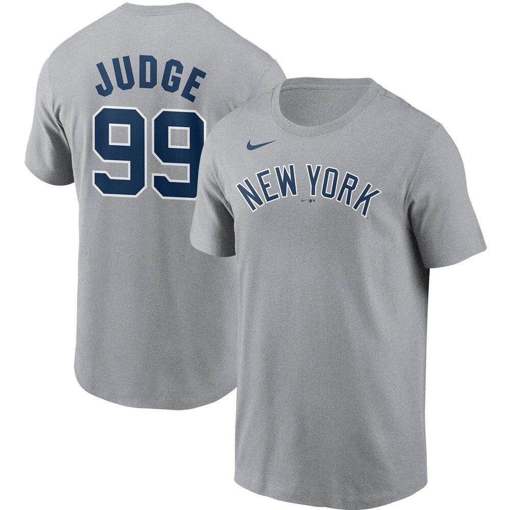Men S Nike Aaron Judge Gray New York Yankees Name Number T Shirt Size Medium Grey In 2020 Nike Men Shirts T Shirt