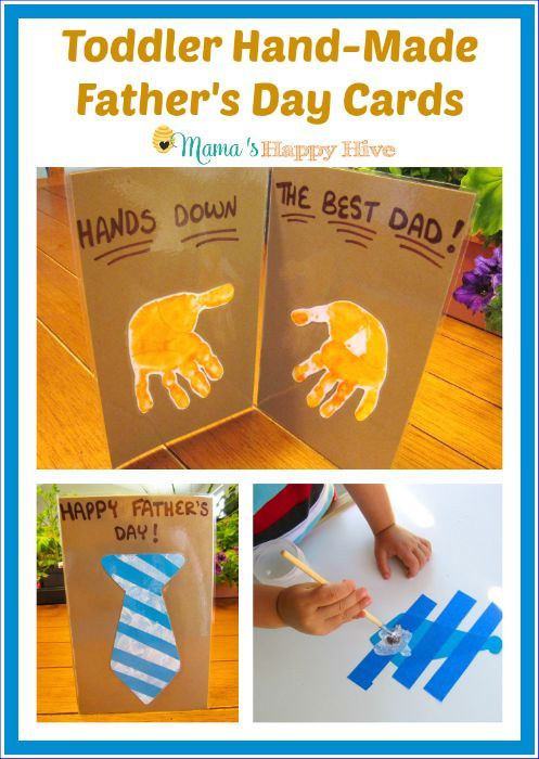 Father Day Card Ideas For Kids To Make Part - 15: Toddler Hand-Made Fatheru0027s Day Cards