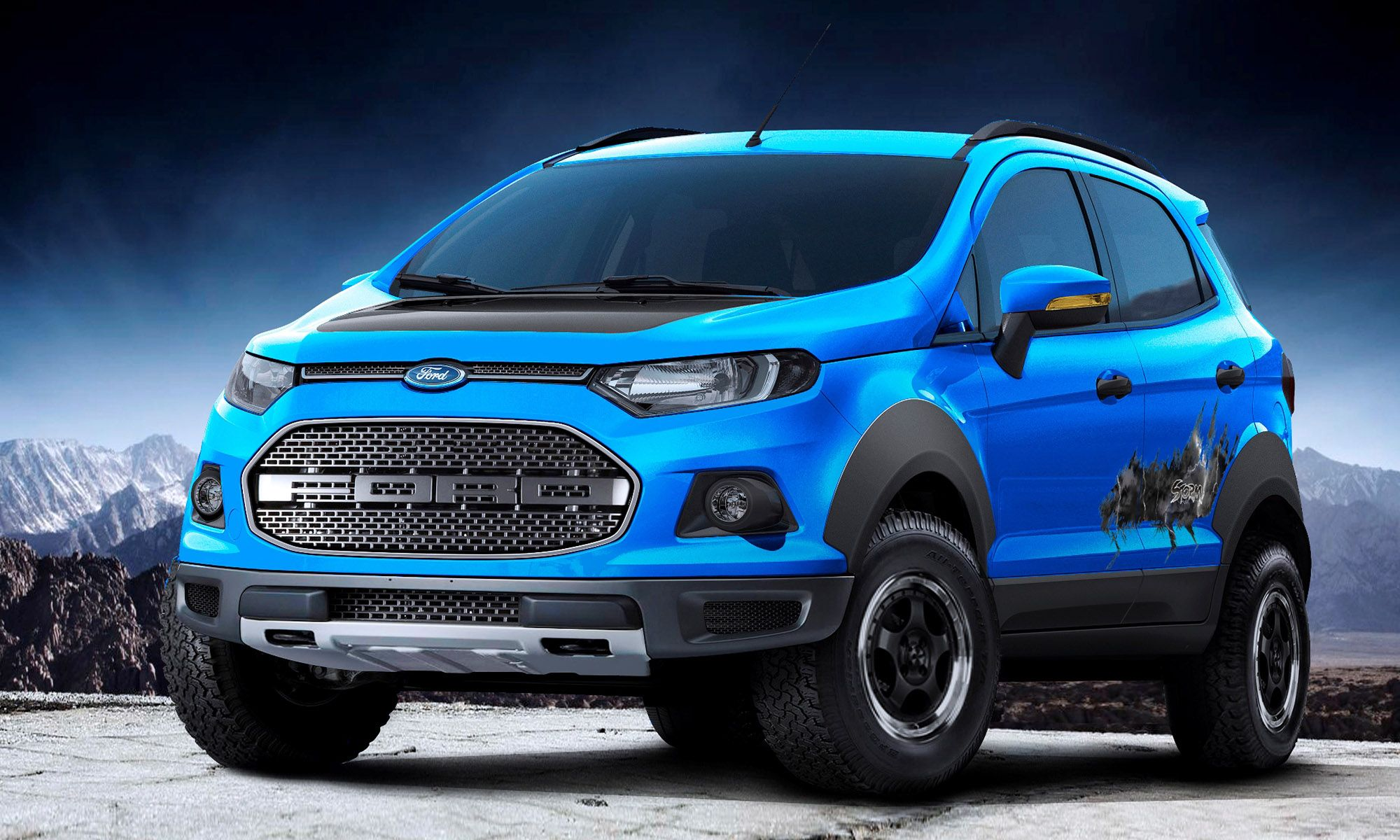 Ford ecosport beauty the beast and storm concepts head to sao paulo http