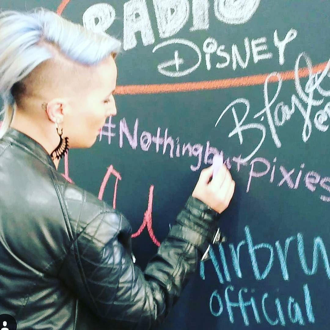 How long have you been following #nothingbutpixies ?? State city and country.  @shear.renegade @shear.renegade on the chalkboard by nothingbutpixies