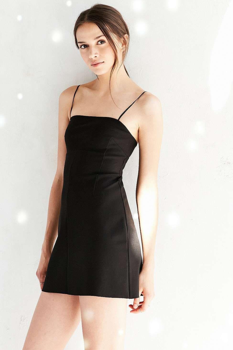 Silence Noise Audrey Black A Line Mini Slip Dress Mini Slip Dress Slip Dress Urban Dresses [ 1463 x 975 Pixel ]