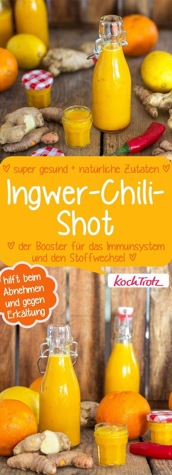 Ingwer-Chili-Shot - der Booster für das Immunsystem und..