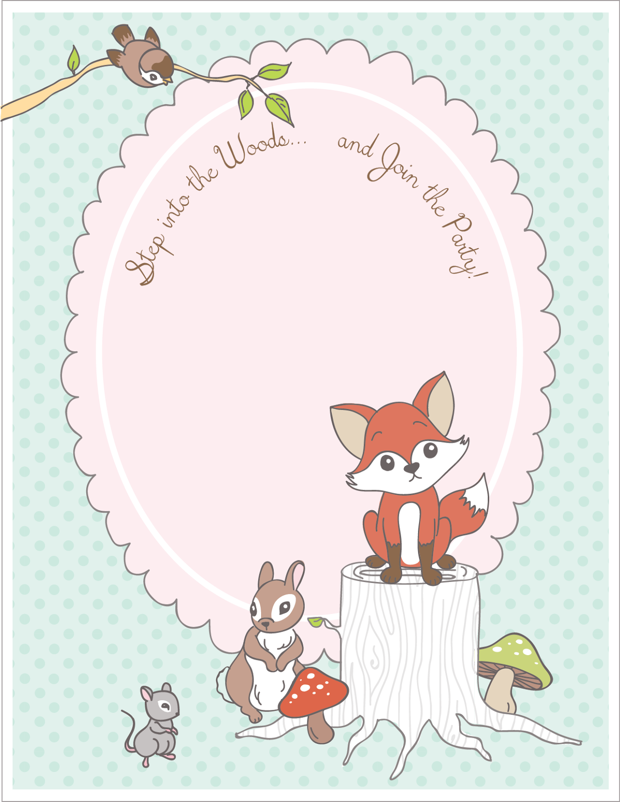 Raising Up Rubies Woodland Theme Woodland Party Free Printables