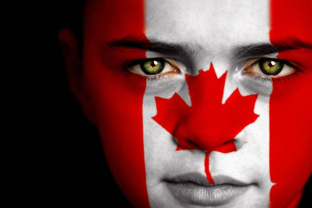 Canadian flag face painting flag faces pinterest flag face canadian flag face painting sciox Choice Image