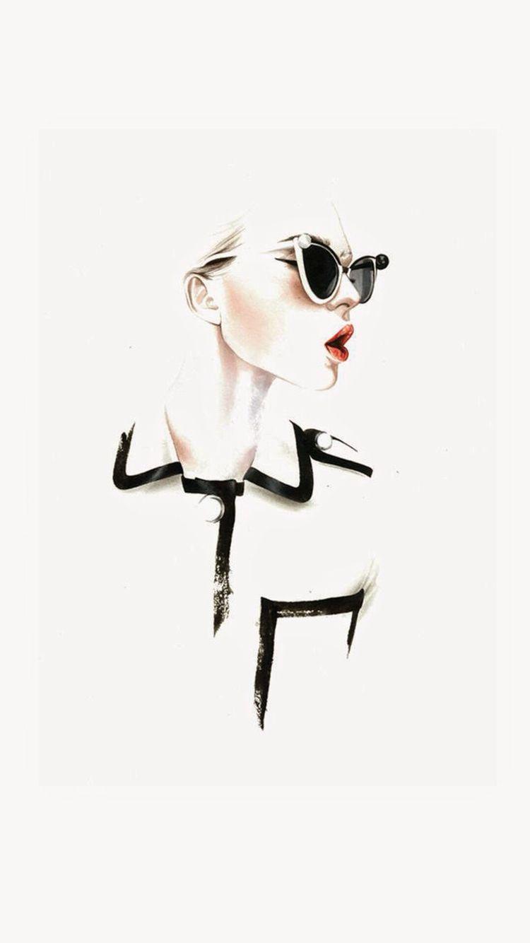 Fashion Illustrations by Antonio Soares | Wallpaper iPhone | Art, Fashion, Illustration art