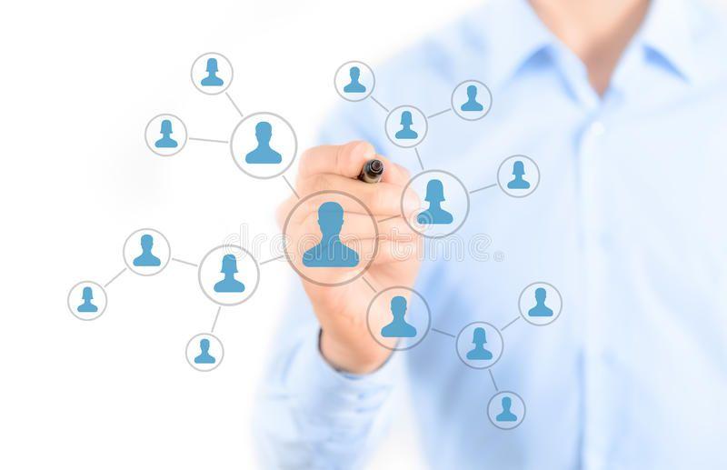 Social Network Connection Concept Businessman Drawing Social Network Connection Aff Connection Netw Marketing Trends Social Marketing Blog Social Media