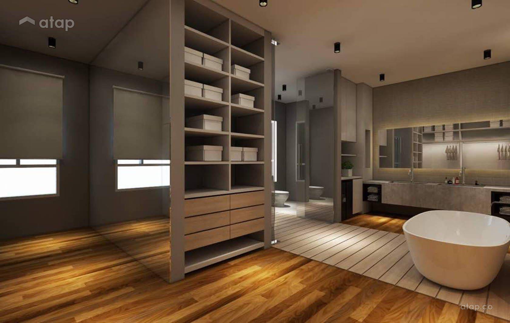 Modern zen bathroom terrace design ideas & photos malaysia atap.co
