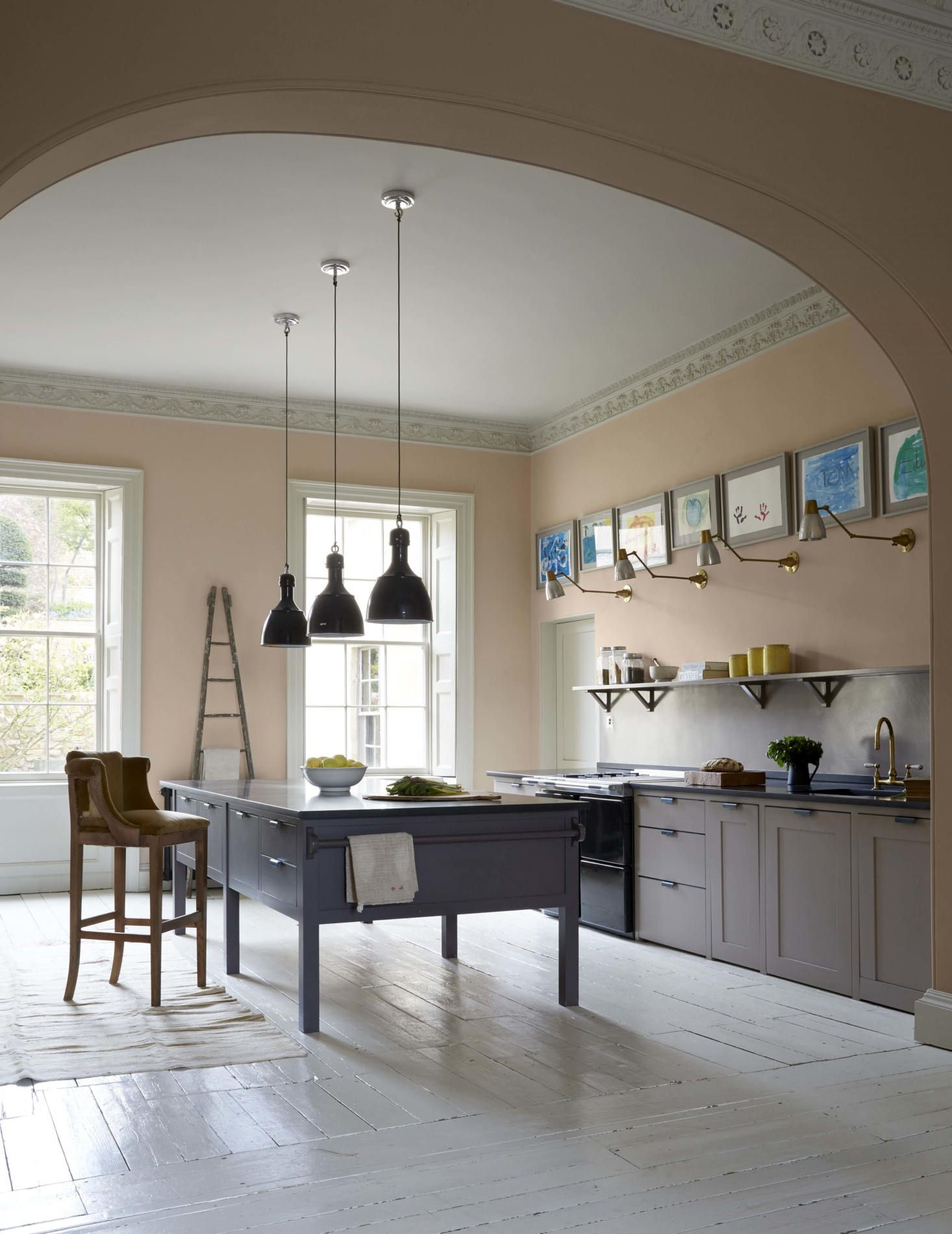 a stylish remodel of a stately historic english house kitchens rh pinterest com
