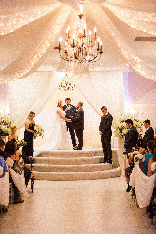 Indoor Wedding Ceremony Arizona Wedding Photographers Villa