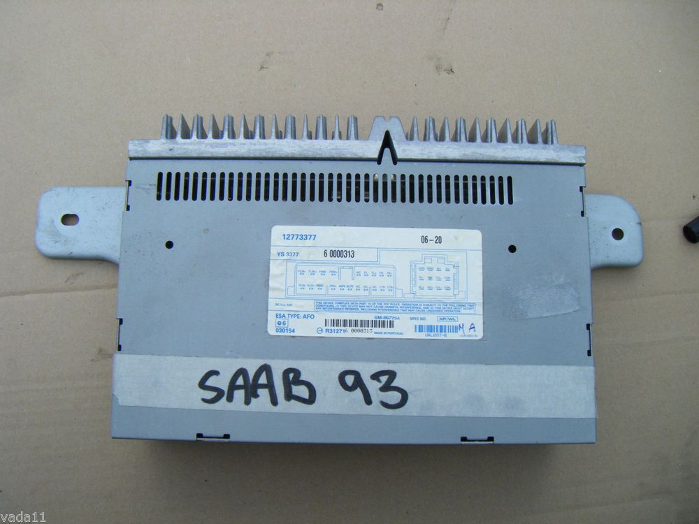 1999 saab 9 3 headlight wiring saab 9-3 93 oem fibre optic amplifier amp in boot type ... #10