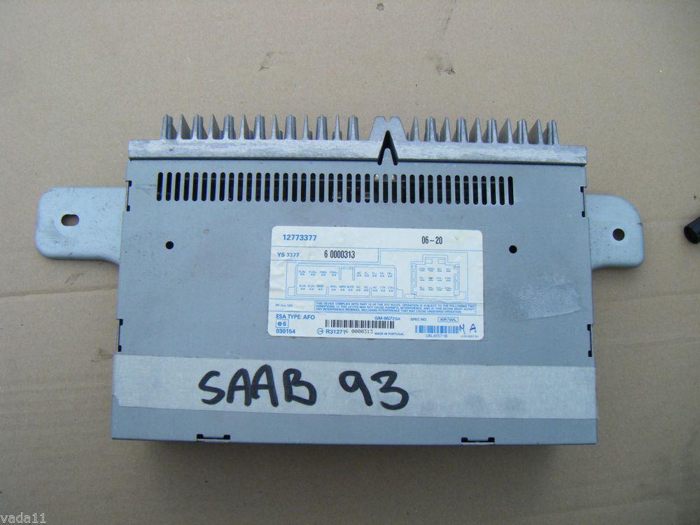 Saab 93 93 oem fibre optic amplifier amp in boot type