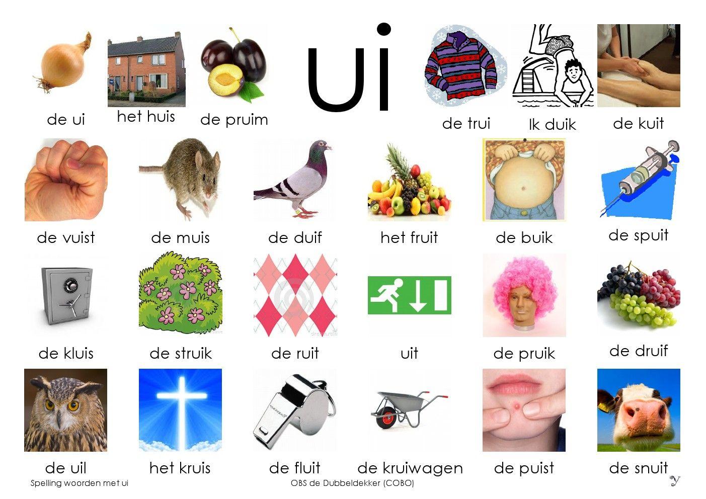 Afkijkplaat UI   Loco met UI woorden   Pinterest