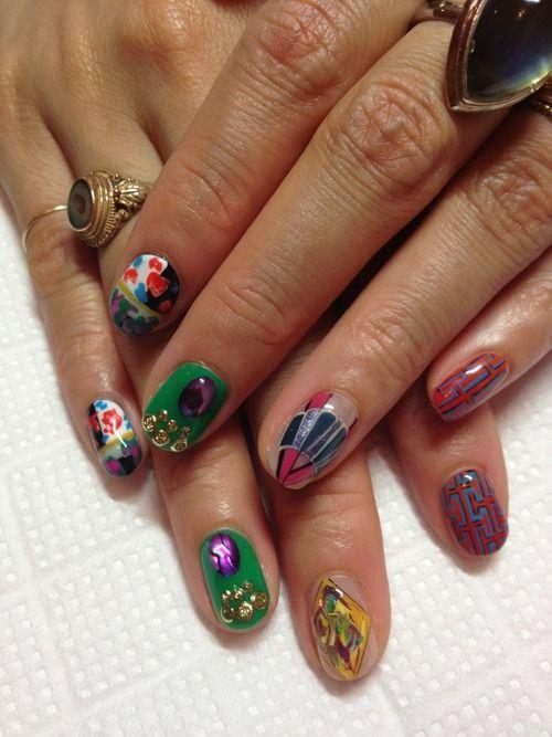 Tumblr   nail art   Pinterest   Discos, Kawaii nails and Mani pedi