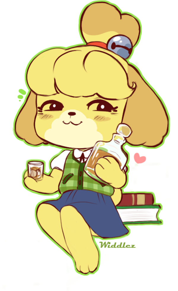 Oh Whiskey You Re One Who Really Gets Me By Widdlez Isabelle Animal Crossing Characters Animal Crossing Fan Art Animal Crossing Villagers