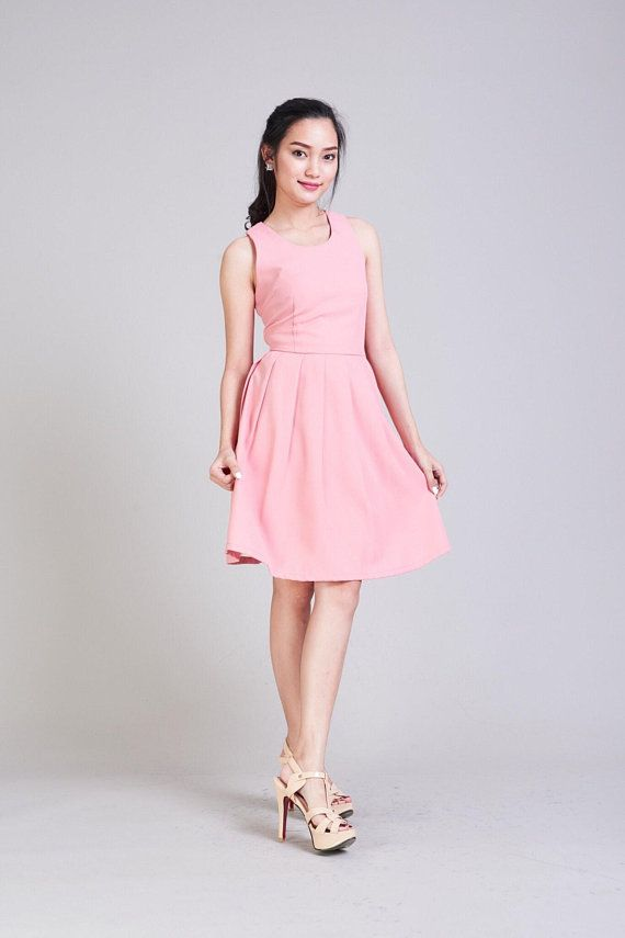 Love Potion - Blush Pink Dress Short Party Dress Bridal Party Dress ...