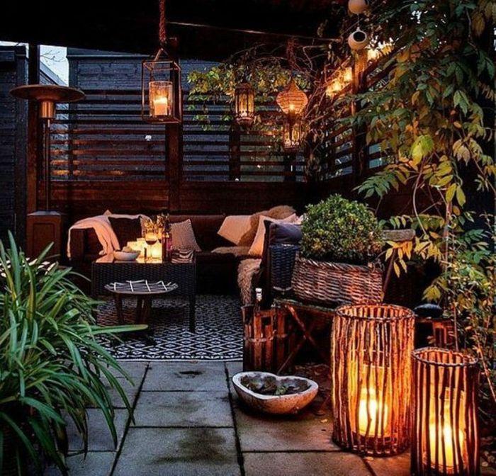 1001 ideas para decorar el balc n con lindas fotos de - Velas para terrazas ...