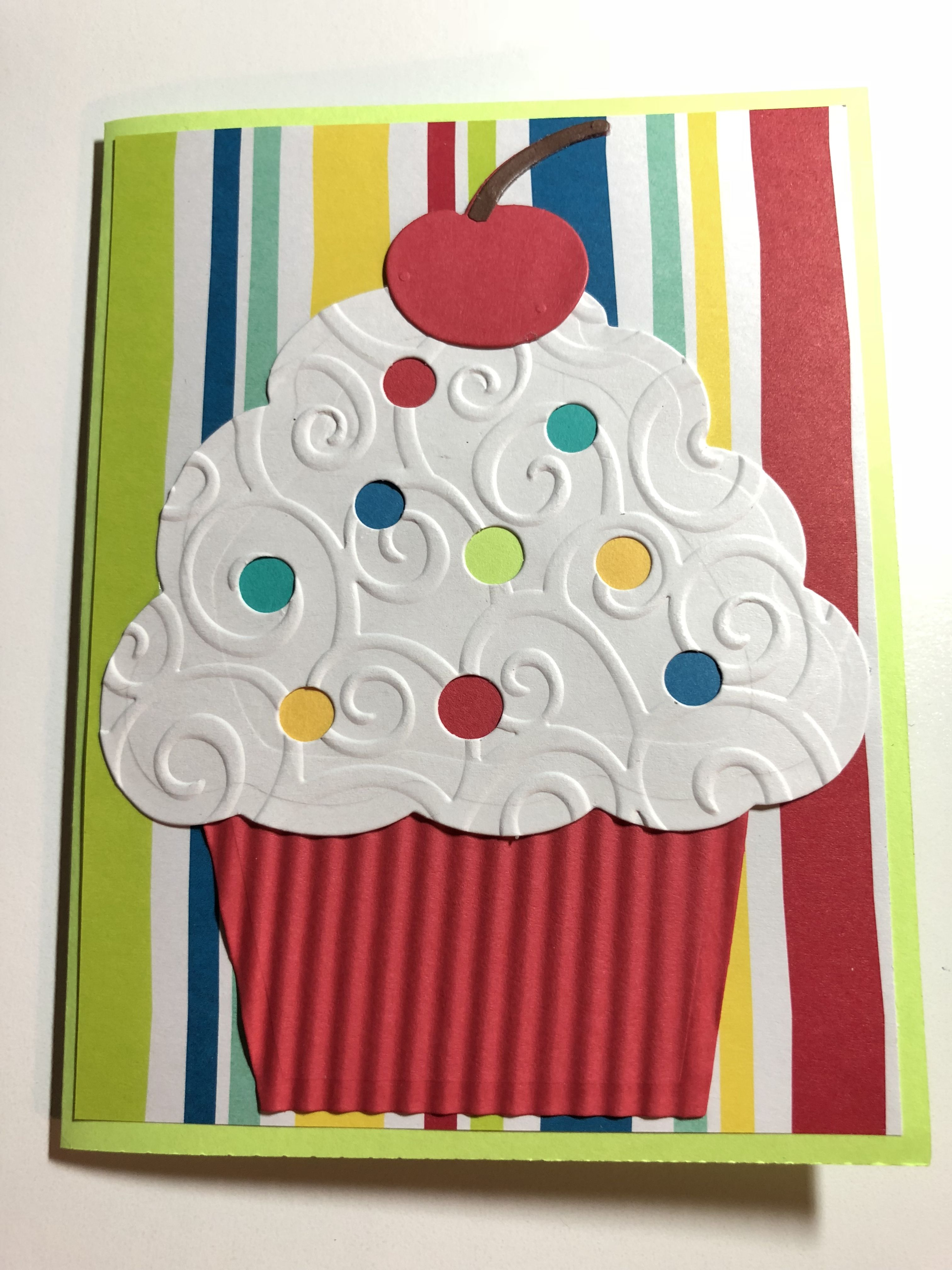 Handmade birthdaycupcake card tonius handmade cards pinterest