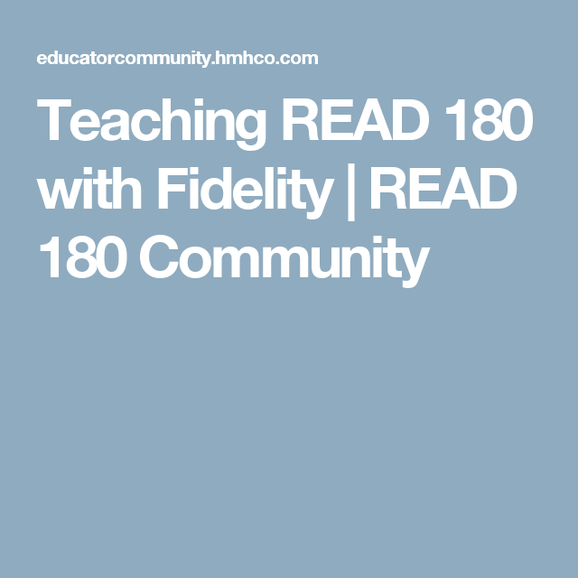 Teaching Read 180 With Fidelity Read 180 Community Reading Games