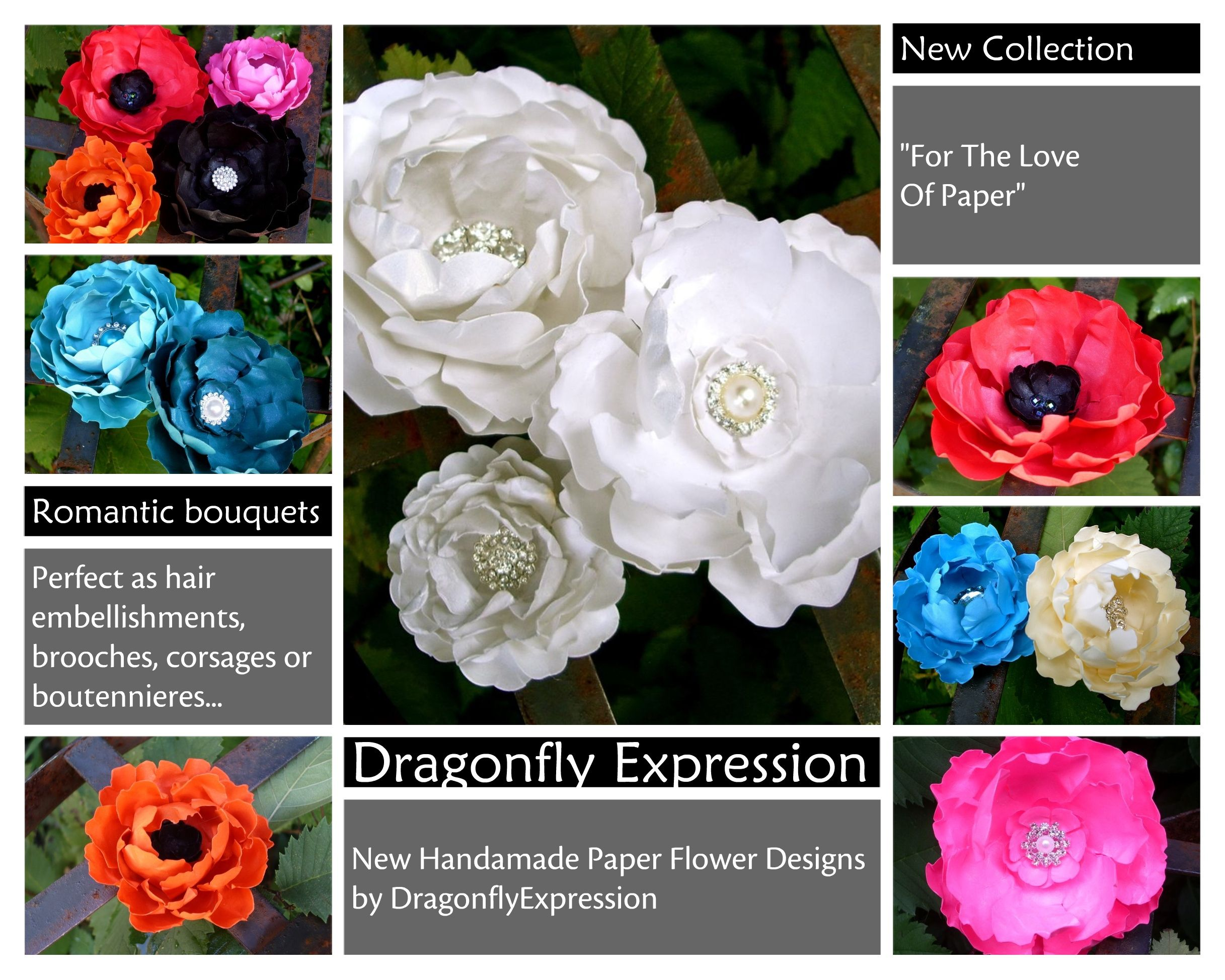 New Handmade Paper Flower Designs By Dragonflyexpression
