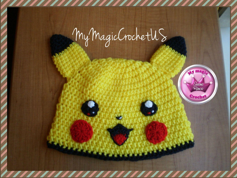 Pikachu Crochet Hat Made with Soft yarn | camilojose | Pinterest ...