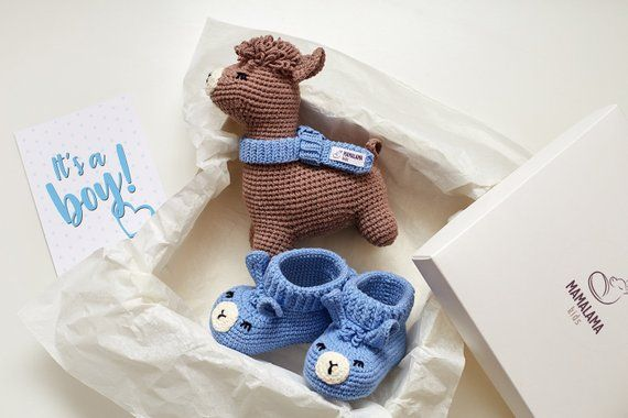 8b371d8fdd833 Baby boy shower idea Pregnancy reveal party gift box Cute sprinkle ...