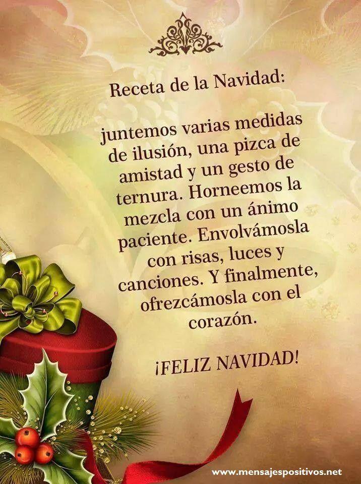 Receta De Navidad Frases De Navidad Mensaje Navideño Y