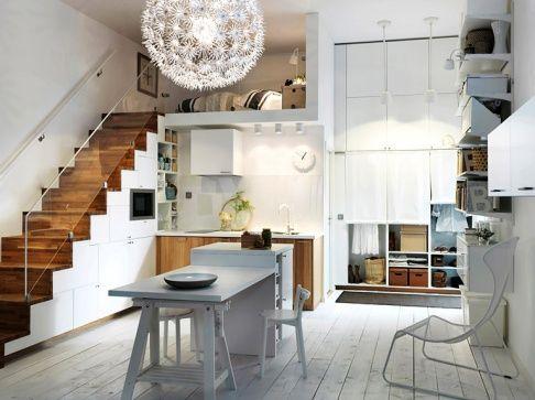 ob wandschrank unter der treppe arbeitsplatz mitten im raum oder kochzeile an der wand - Treppe Mitten Im Wohnzimmer