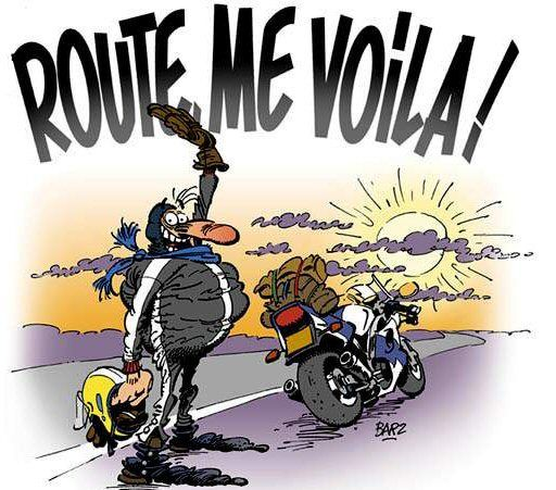 Barz joe bar team route me voila humour moto pinterest - Dessin humoristique motard ...