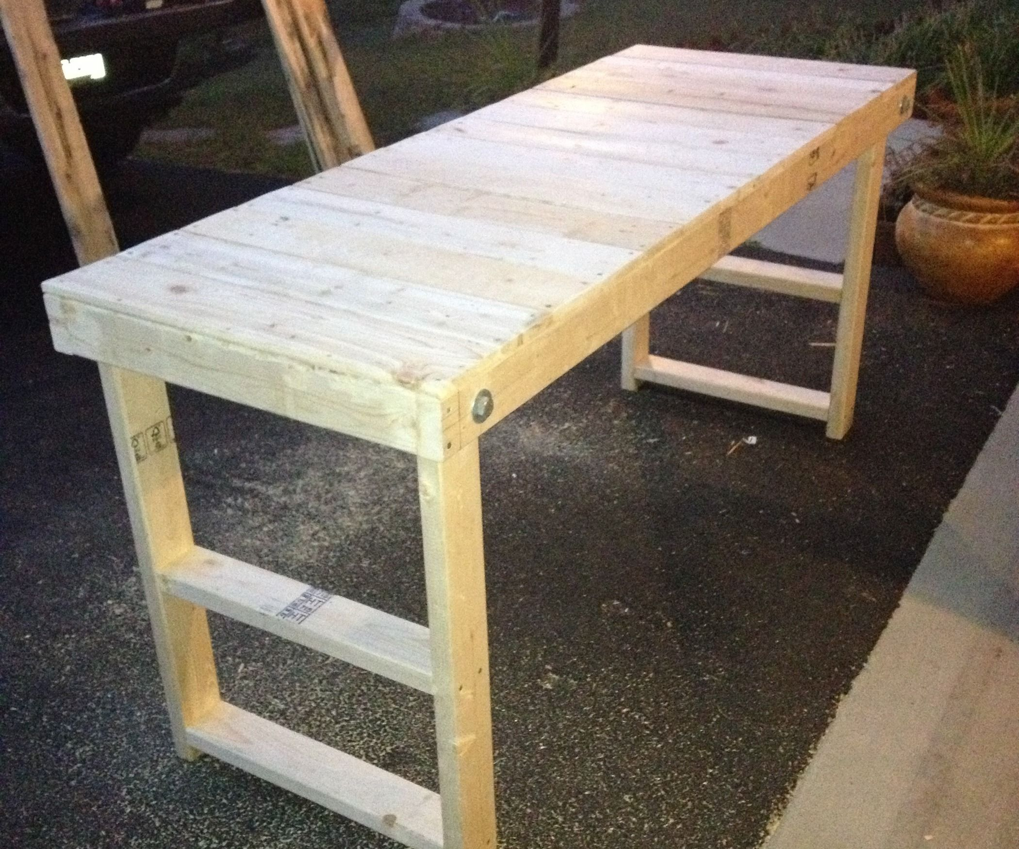 First Post I Was Shopping Around Home Depot When I Came Across A Workbench They Sell It Had A Folding Design Folding Workbench Woodworking Workbench Wood Diy