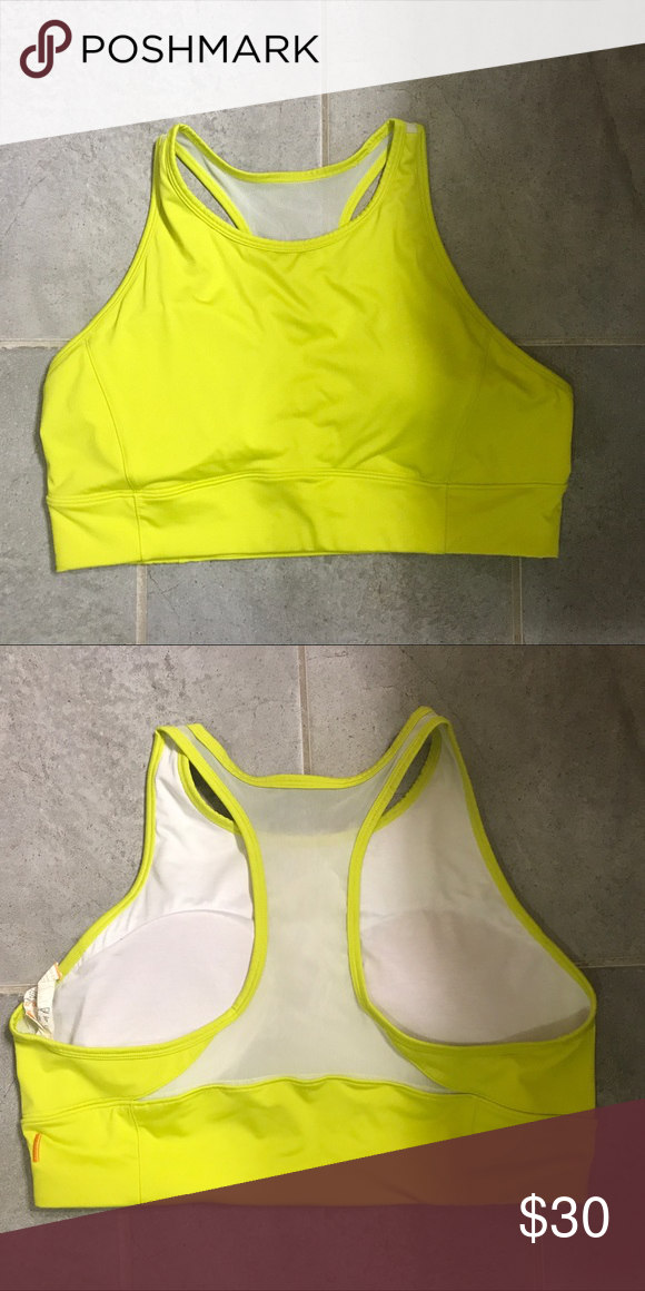 ea2b018df62e0 Lucy Yellow Sports Bra Size XL Lucy neon yellow fun color sports bra size  women s XL