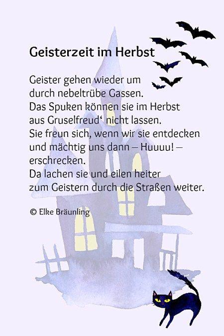 Geisterzeit im Herbst - Halloweengedicht | Gedichte Geschichten ...