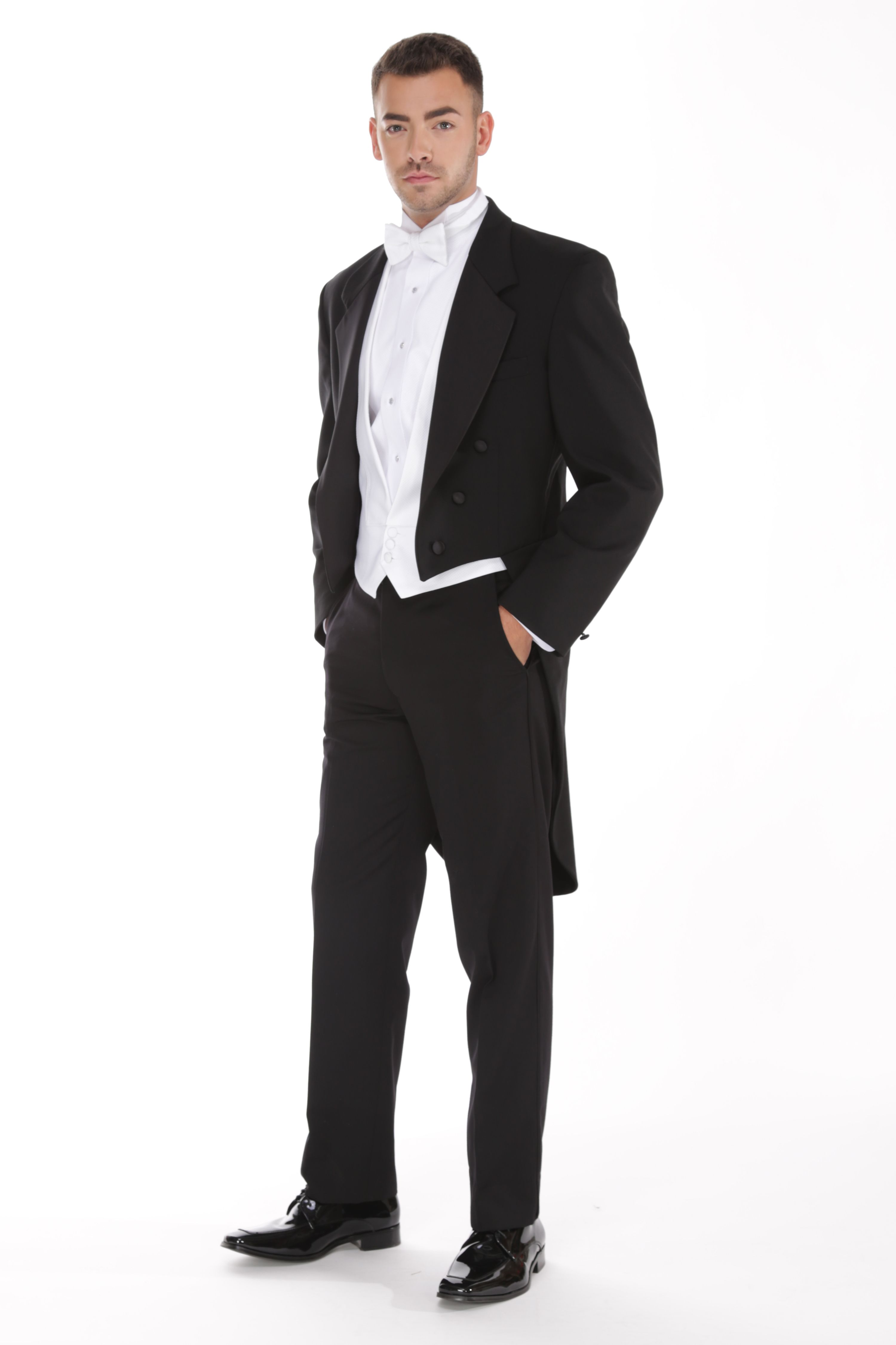 Traditional Full Dress Notch Tuxedo with tails, Tuxedo