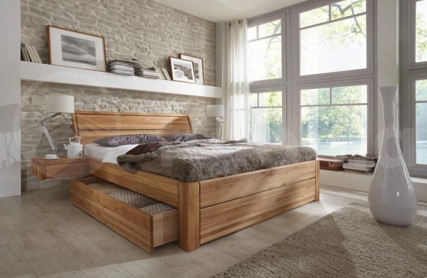 Bett EASY SLEEP EICHE Futonia Holzmöbel Hamburg Schlafzimmer - schlafzimmer holz massiv
