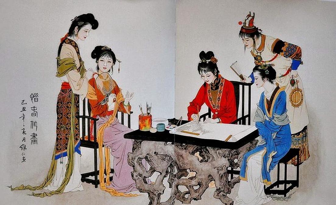 Xiang Ren - Woman Writing, I w Company