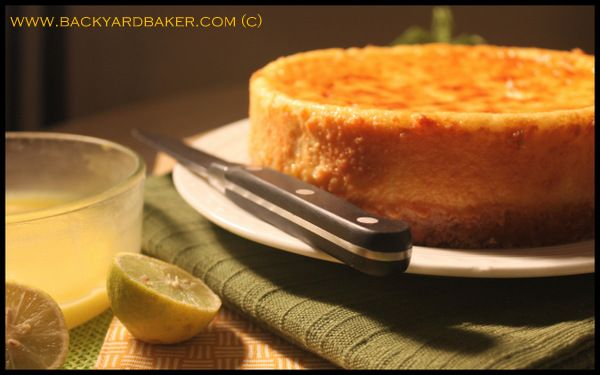 The Backyard Baker: Marbled Lemon Cheesecake