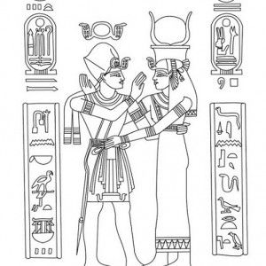 cleopatra egyptian coloring pages - photo#17