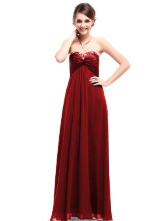 Amazon.com: Ever Pretty Sweetheart Neckline Rhinestones Crystal Beads Prom Dress 09568: Clothing