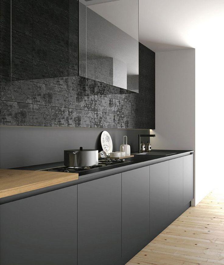 Risultati immagini per cucina nera legno | Minimalists | Pinterest ...