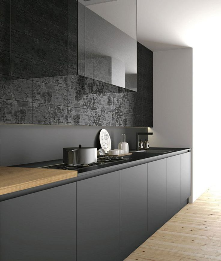 cucina nera legno - Cerca con Google | Cucine | Pinterest | Cucina ...