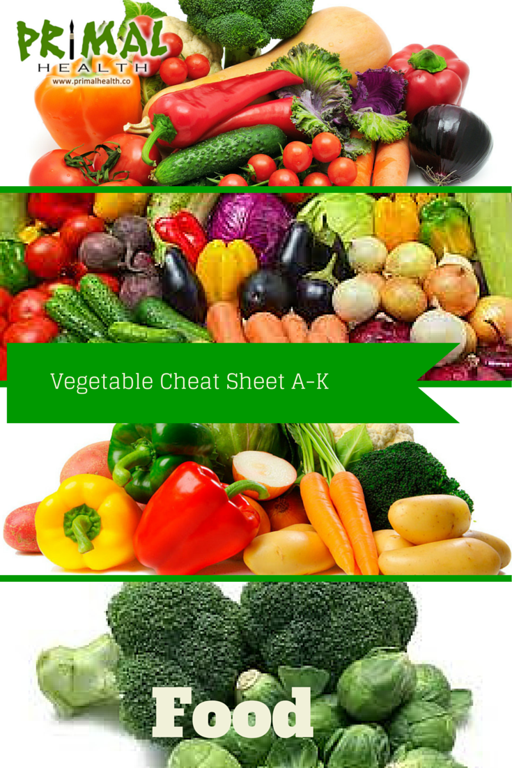 Vegetables aren't boring when you have Bex's Vegetable Cheat Sheet! - Brad  http://primalhealth.co/vegetable-cheat-sheet-a-k/  #primalhealth #vegetablecheatsheet