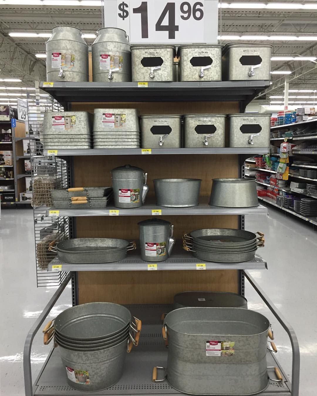 For All Things Galvanized Go To Wal-Mart And Check Out