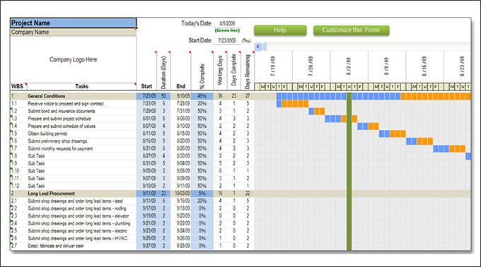 Residential Construction Schedule Template Excel | template ...