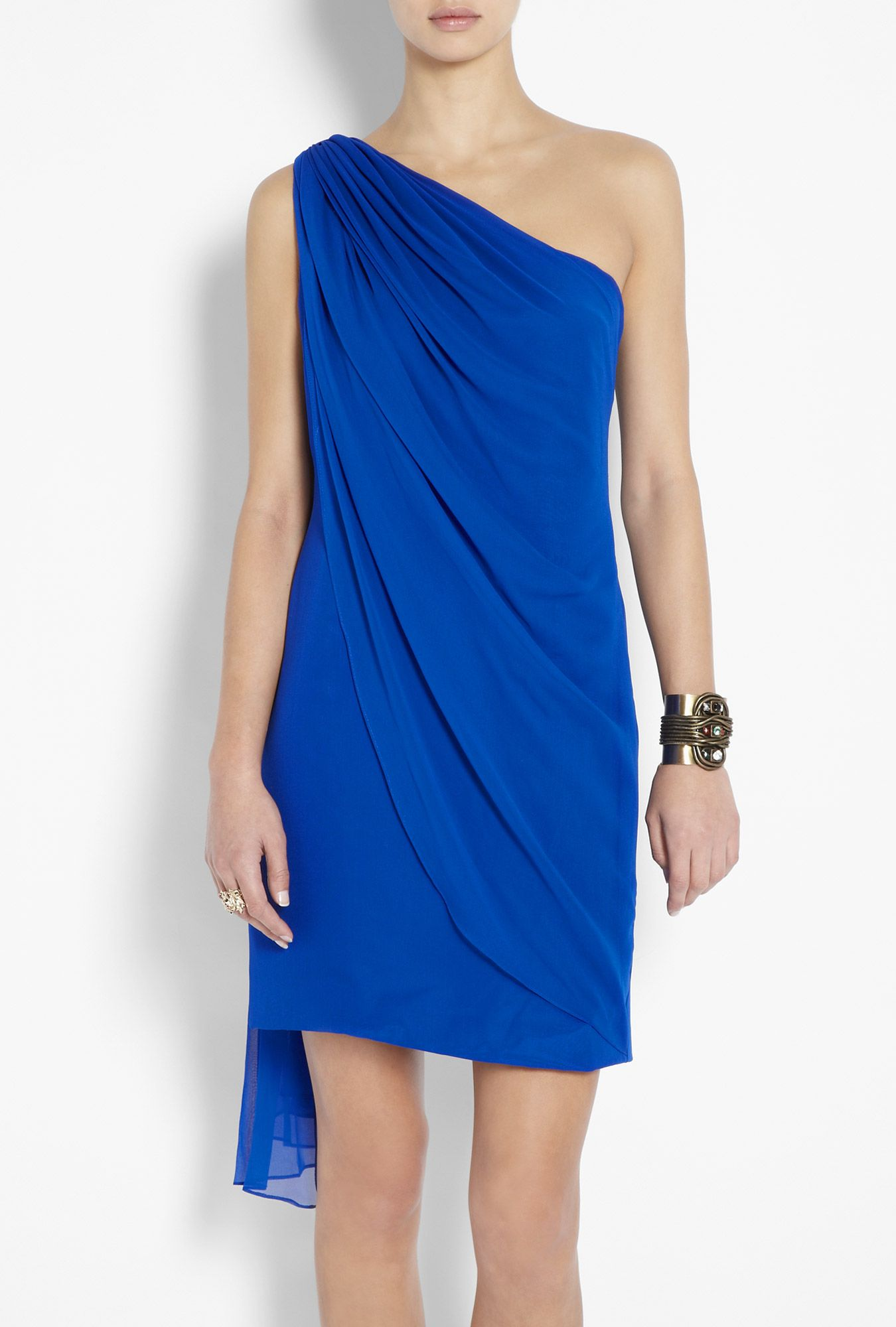 One shoulder drape chiffon dress this is so lovely fashion and