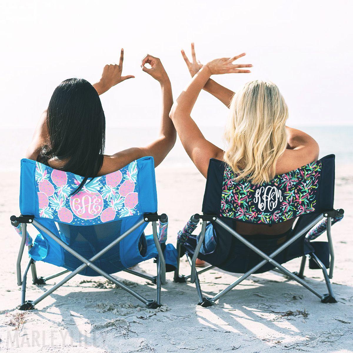 Monogrammed Beach Chair Beach Monogram Beach Chairs Beach Cup