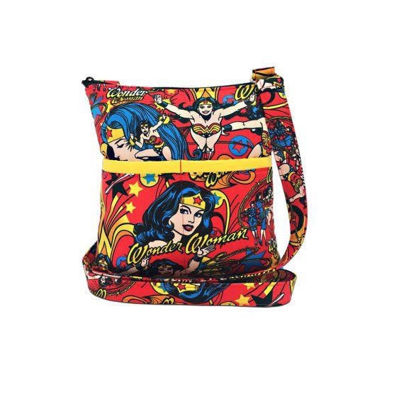 591521c28c3 Wonder Woman Crossbody Bag // Sling Bag // Crossbody Purse // Shoulder Bag…