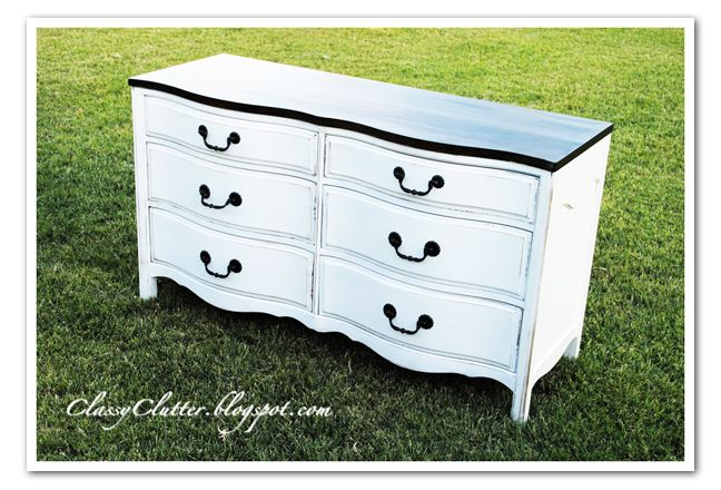 Classy Clutter: Frenchy Dresser / Buffet Makeover  I have one of these!!